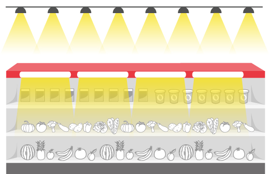 SUPERMARKET LIGHTING-BAR,TUBE, LOW BAY